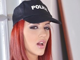 Aylin Diamond playing police offers in house arrest