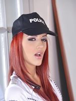 Aylin Diamond playing police offers in house arrest #02
