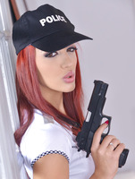 Aylin Diamond playing police offers in house arrest #03