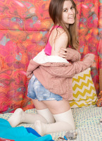 Blanca in is a young hairy girl that pleases herself #03