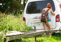 Redhead amateur Flora masturbating in back of van #08