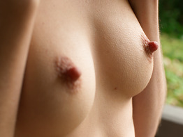 Hard nipples on a natural girl Logan