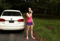 Aria Alexander is looking cute teasing outdoors #01