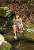 Cute brunette teen Kimmy Granger playing outdoors #02