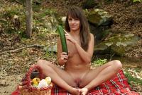 Cute brunette teen Kimmy Granger playing outdoors #14