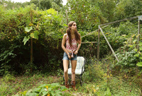 Tali Dova fucks herself with veggies on the farm #03