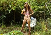 Tali Dova fucks herself with veggies on the farm #08
