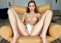 Teenage cutie Tali Dova fingers her lovely fuzzy snatch #07