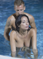 Busty brunette Anissa Kate taking it anally in the pool #10