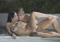Busty brunette Anissa Kate taking it anally in the pool #13