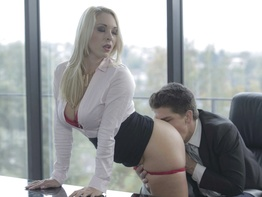 Seductive secretary Victoria Summers in office sex