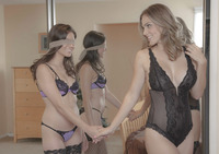 Ryan Ryans and Shyla Jennings in blind-folded fun #06