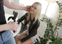 Joleyn Burst in her first hardcore scene on camera #01
