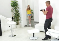 Redhead teen Linda Sweet looks good in any position #01