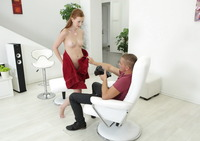 Redhead teen Linda Sweet looks good in any position #09