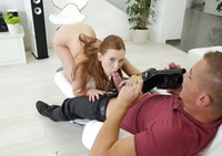 Redhead teen Linda Sweet looks good in any position #11
