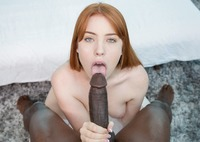 Gorgeous redhead Gwen Stark works a huge black cock #09