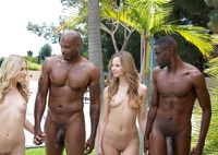 Jillian Janson and Karla Kush in interracial foursome #07