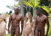 Jillian Janson and Karla Kush in interracial foursome #07