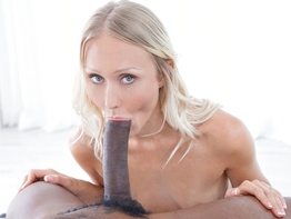 Skinny Natasha has been fantasizing about big black cock