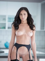 Dark haired beauty Ariana stuffed with big black cock #04