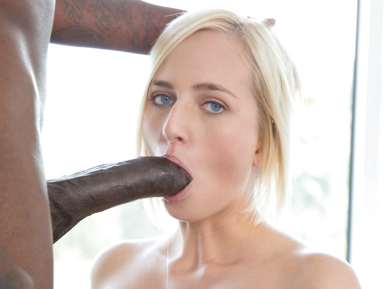 Blue eyed blonde Kate England takes a load from BBC