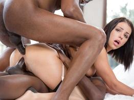 Adriana Chechik getting DP by two black guys