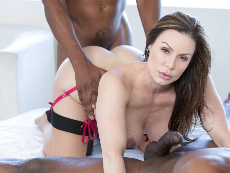 Kendra Lust taking on two big black dicks