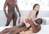 Kendra Lust taking on two big black dicks #09