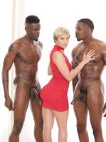Makenna Blue enjoys multiple black dicks inside her #05