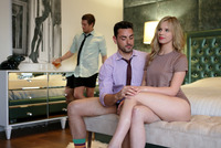 Horny blonde Jillian Janson in after party threesome #01