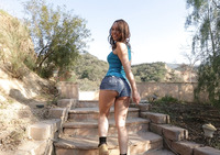 Naughty Jade lets her bf fuck her outdoors in nature #02