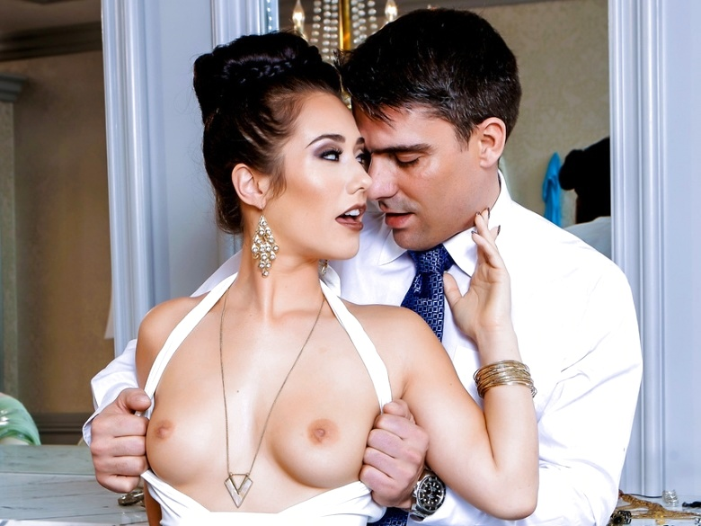 Eva Lovia all dressed up and and pleasing her man