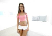 Little asian teen Amy Parks dripping cum from her pussy #01