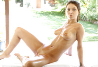 Jojo Kiss gets a poolside massage and facial #04