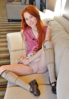 Skinny little redhead Dolly showing off her sweet ass #03