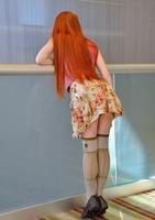 Skinny little redhead Dolly showing off her sweet ass #06