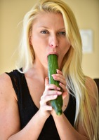 Krystal fucks herself with veggies and vibrator #03