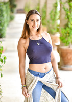 Chesty FTV girl Ashley Adams teasing in blue jeans #01