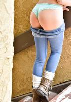 Chesty FTV girl Ashley Adams teasing in blue jeans #07