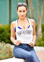 Chesty FTV girl Ashley Adams teasing in blue jeans #10