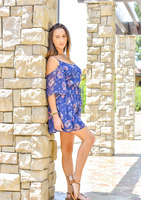 Busty FTV girl Ashley lifts her dress in public and toys #01