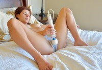 Fiona teasing in her panties and playing with vibrator #08
