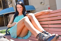 Mya Summers flashing and spreading her pussy in public #08
