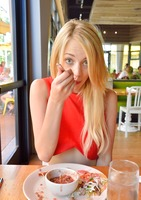 Blake Eden teasing and flashing outdoors in public #06