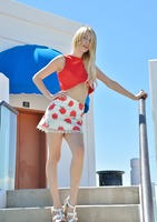 Blake Eden teasing and flashing outdoors in public #07