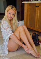 Katie shown posing in Bedroom Spreads #03