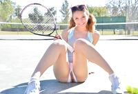 Aurora Belle getting kinky on the tennis court #05