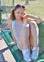 Aurora Belle getting kinky on the tennis court #14