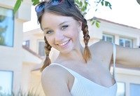Aurora is an adorable girl in cute pigtails #06